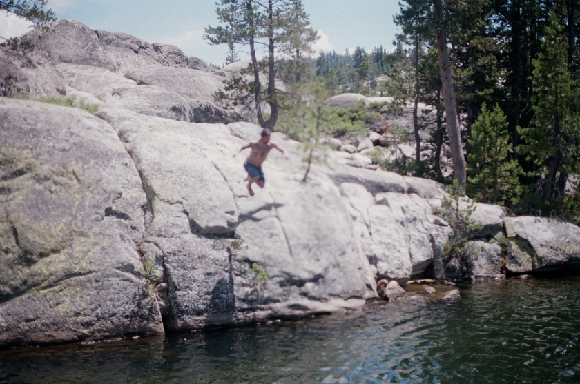 Cramped Up Utica Reservoir cliff jump