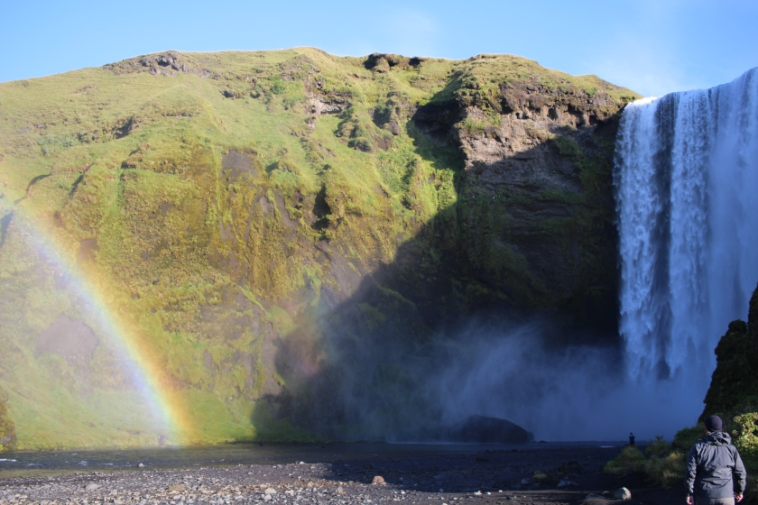 Cramped Up Iceland Skogafoss rainbow