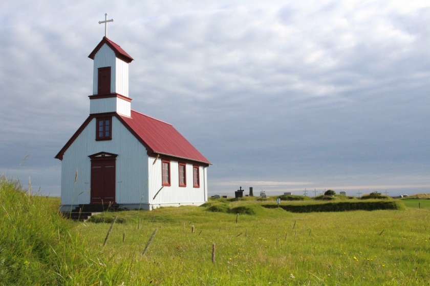 Cramped Up Iceland Farm church