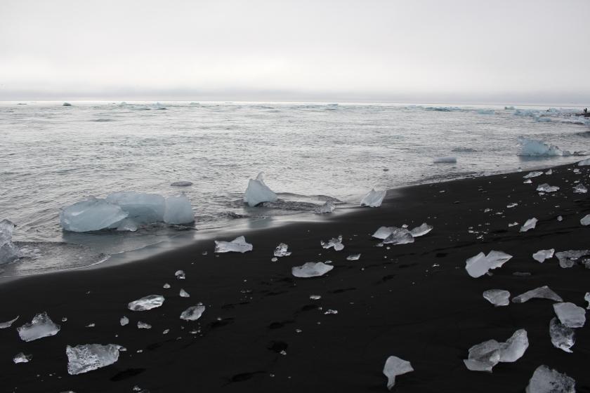 Cramped Up Iceland jokulsarlon iceberg lagoon black sand beach crystal 3
