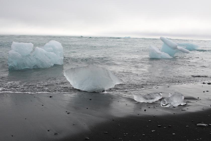 Cramped Up Iceland jokulsarlon iceberg lagoon black sand beach crystal 4