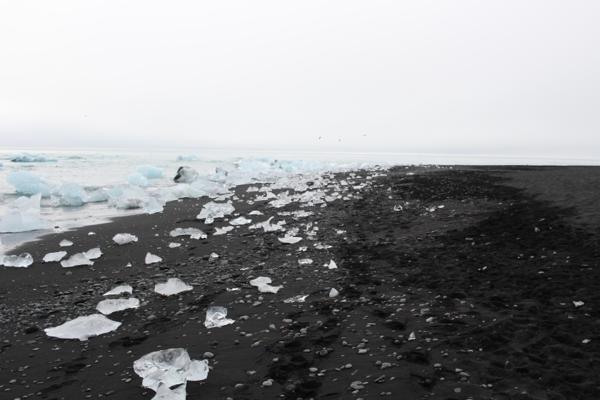 Cramped Up Iceland jokulsarlon iceberg lagoon black sand beach crystal 5