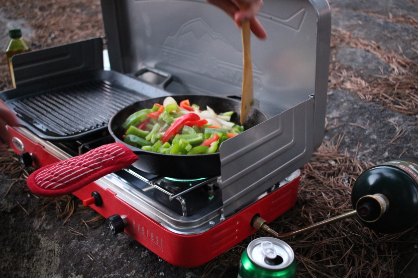 Cramped Up Utica Reservoir campchef grilled peppers