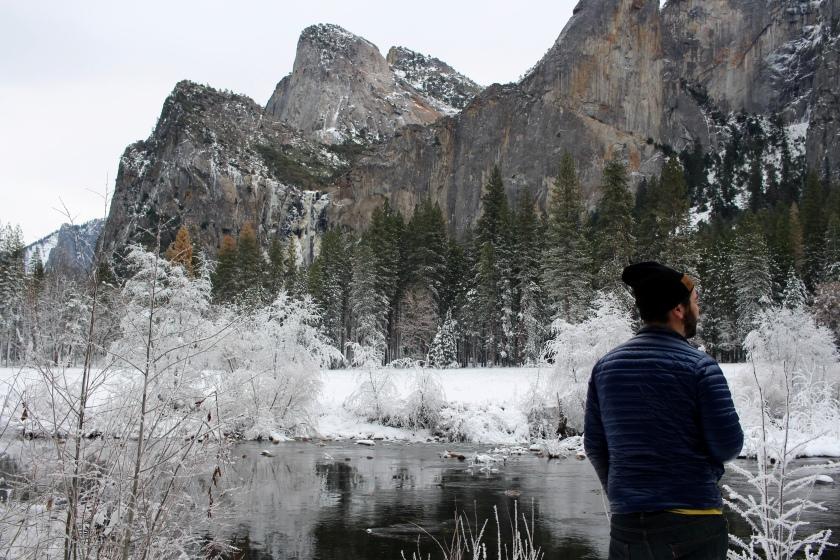 Cramped Up Yosemite Merced River winter valley