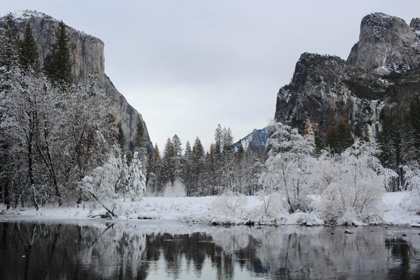 Cramped Up Yosemite Merced River Valley