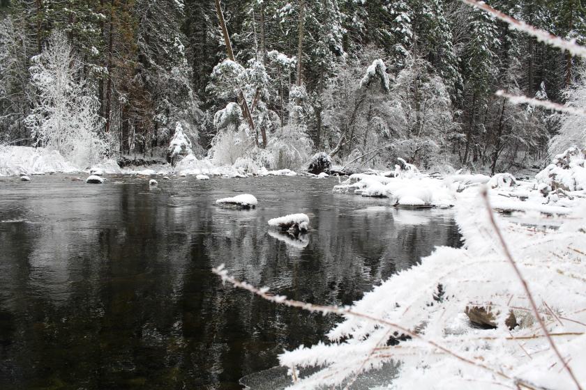 Cramped Up Yosemite Merced River winter