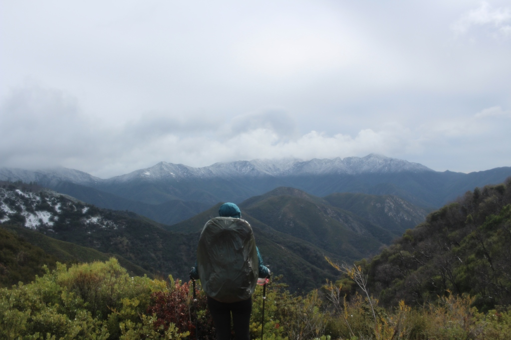 cramped up big sur ventana wilderness snow line