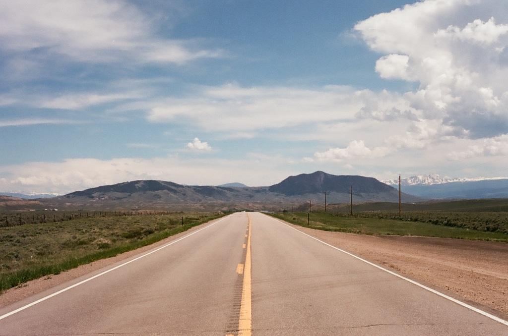 cramped up road trip colorado highway