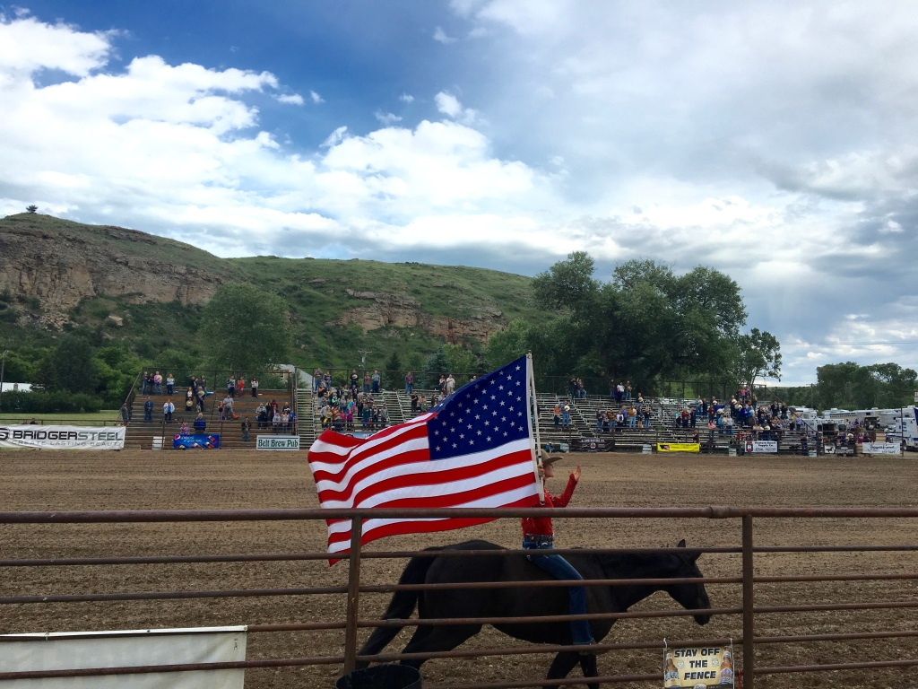 cramped up road trip montana rodeo